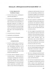 Satzung der WGD