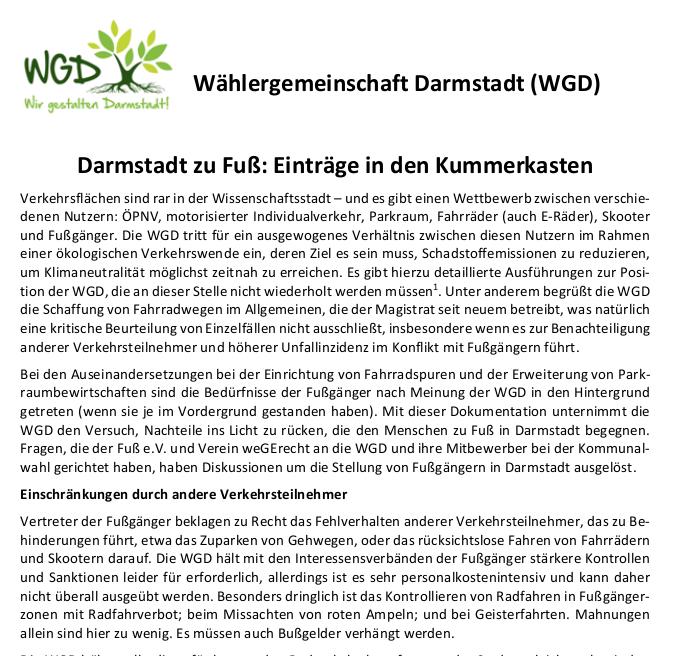 Stellungnahme Darmstadt zu Fuß