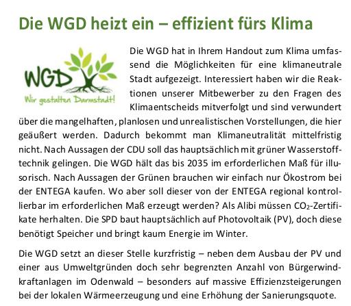 Themenflyer WGD heizt ein