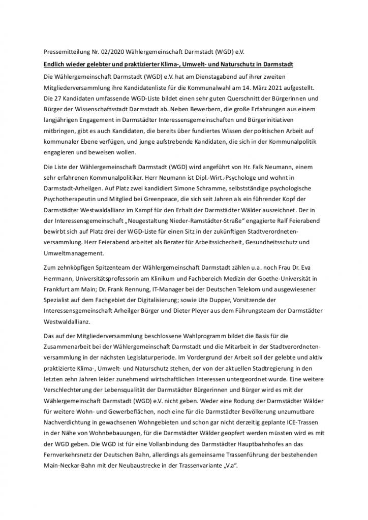 Pressemitteilung vom 24.11.2020